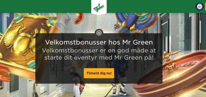 Tjen penge på Mr Green indbetalingsbonus